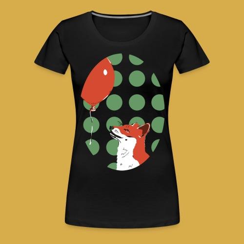 Fuchs und Luftballon - Frauen Premium T-Shirt