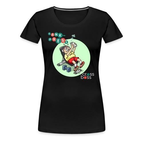 Tänkpress (mörk bakrund) - Premium-T-shirt dam