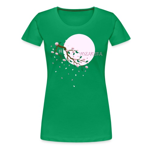Cherry Blossom Festval Full Moon 1 - Frauen Premium T-Shirt