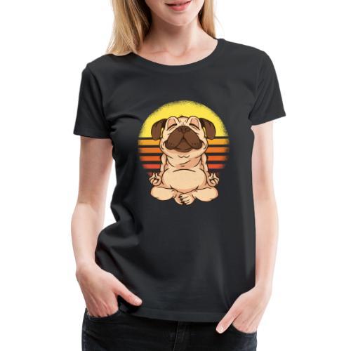 Yogahund - Frauen Premium T-Shirt