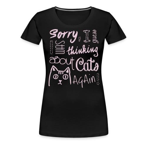 Cat Addict - Frauen Premium T-Shirt