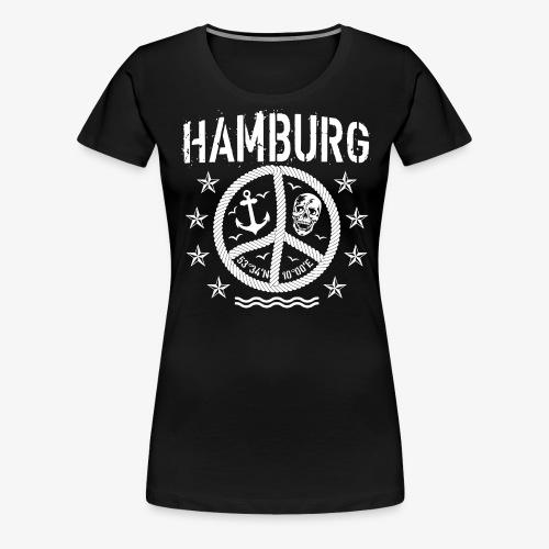 105 Hamburg Peace Anker Seil Koordinaten - Frauen Premium T-Shirt