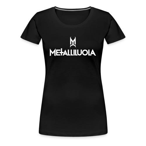Metalliluola valkoinen logo - Naisten premium t-paita