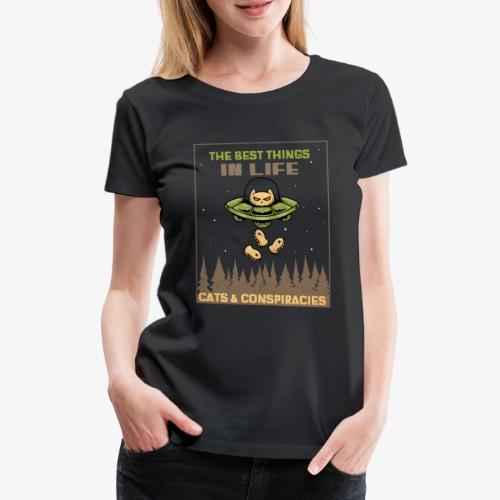 Cats and Conspiracies - Naisten premium t-paita