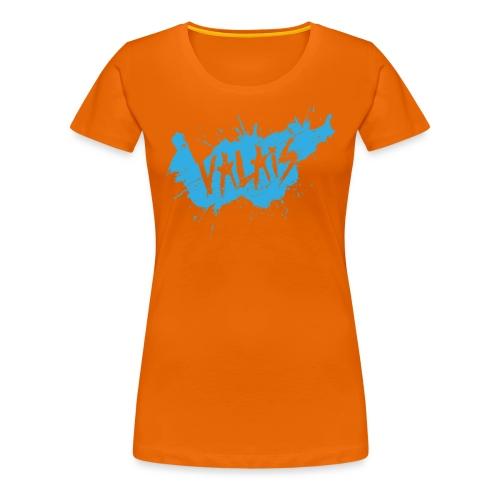 VALAIS GRUNGY BLAU - Frauen Premium T-Shirt