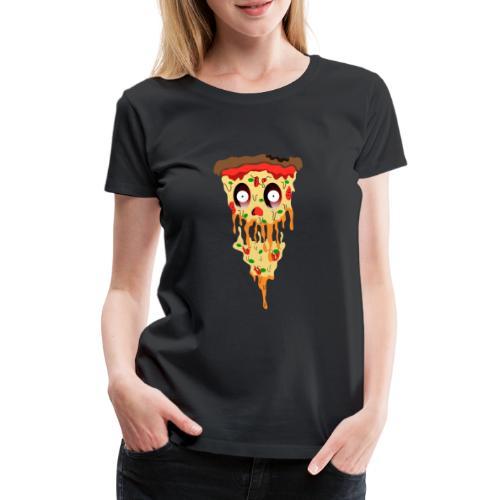 Schockierte Horror Pizza - Frauen Premium T-Shirt