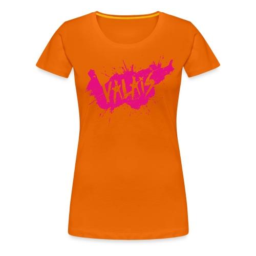 VALAIS GRUNGY MAGENTA - Frauen Premium T-Shirt