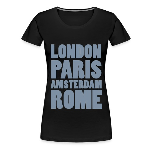capital cities contouren - Vrouwen Premium T-shirt