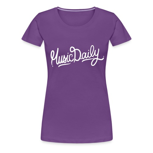 Music Daily High Res png - Vrouwen Premium T-shirt
