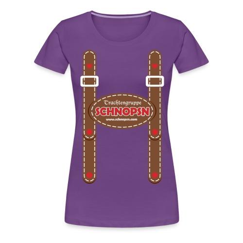 trachtengruppe schnopsn - Frauen Premium T-Shirt