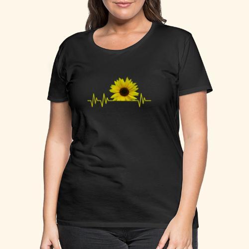 sunflowerbeat - zauberhafte Sonnenblume - Frauen Premium T-Shirt