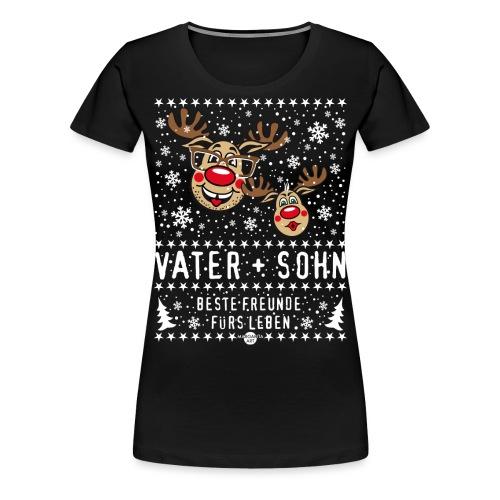 105 Hirsch Vater und Sohn beste Freunde fürs Leben - Frauen Premium T-Shirt