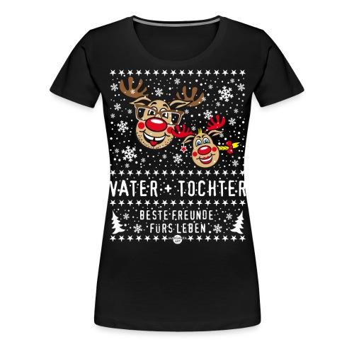 106 Hirsch Vater Tochter beste Freunde fürs Leben - Frauen Premium T-Shirt