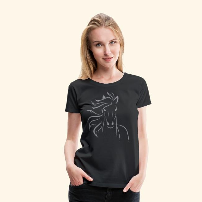 I love horses - Light stitched design