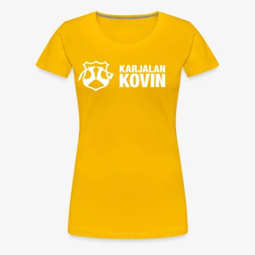 karjalan kovin vaaka - Naisten premium t-paita
