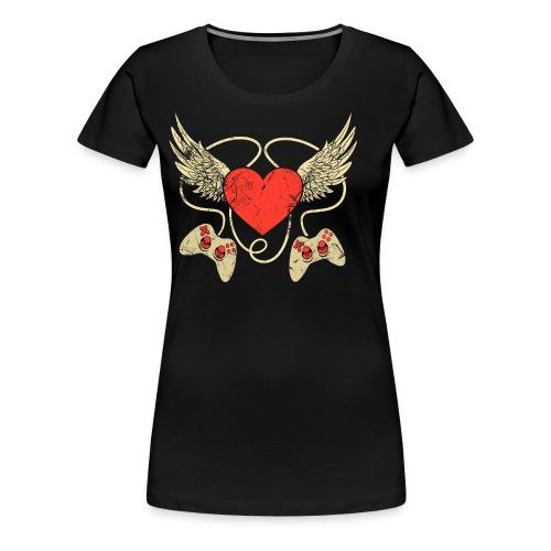 Gamer Herz - Controller - Frauen Premium T-Shirt