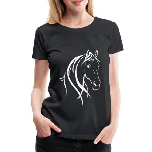 Pferdekopf - Frauen Premium T-Shirt