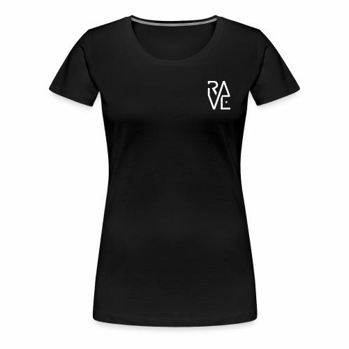 Rave Minimal Text Electronic Music Techno Schrift - Frauen Premium T-Shirt