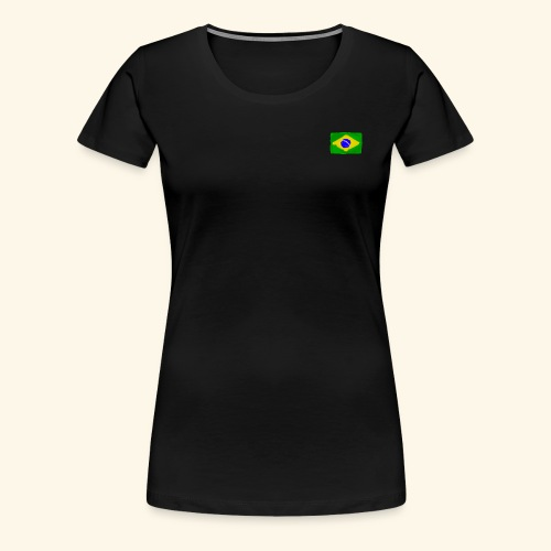 Brazilian flag InWatercolours - Premium-T-shirt dam