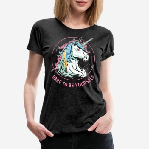 unicorn dare utopia - Frauen Premium T-Shirt