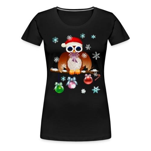 Merry Christmas Owl - Women's Premium T-Shirt