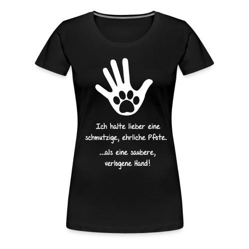 Ich liebe Hunde - Frauen Premium T-Shirt