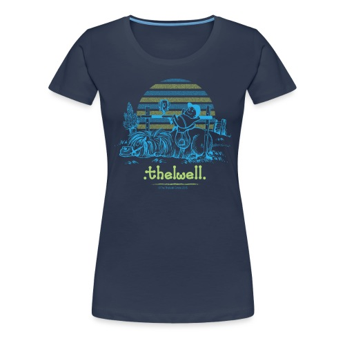 Thelwell Cartoon Pony Sieg - Frauen Premium T-Shirt