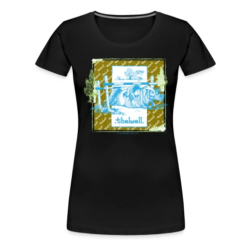 Thelwell Cartoon Pony Sturz Rahmen - Frauen Premium T-Shirt