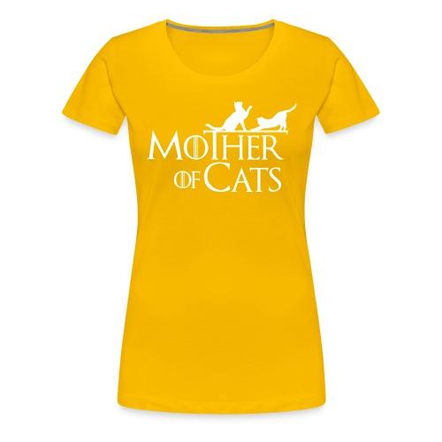 1 texto gatos eng w png - Camiseta premium mujer