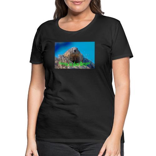 Servus in den Bergen - Frauen Premium T-Shirt