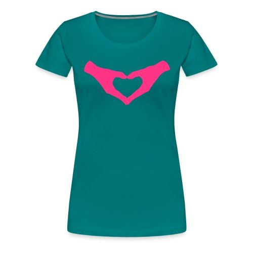 Herz Hände / Hand Heart 2 - Frauen Premium T-Shirt