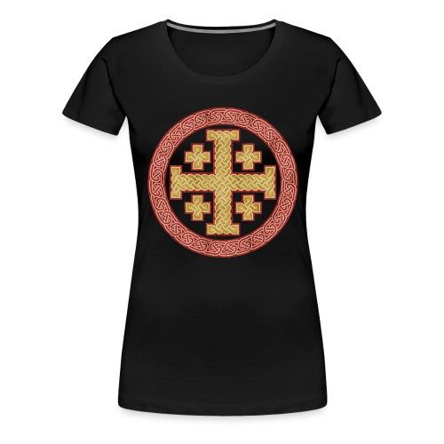 Jerusalem Style Celtic Cross - Women's Premium T-Shirt