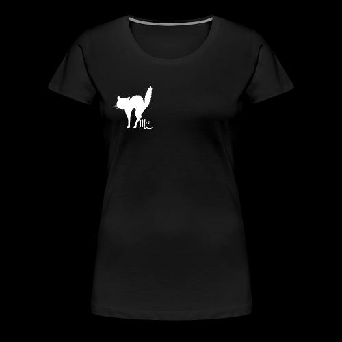MidnightCat logo - Premium-T-shirt dam