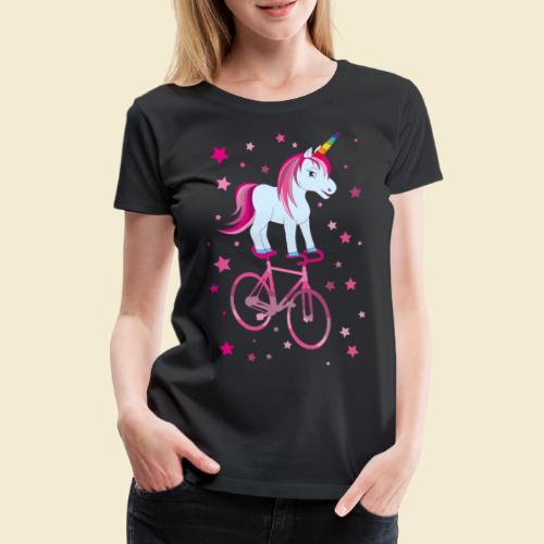 Kunstrad   Einhorn Pink - Frauen Premium T-Shirt