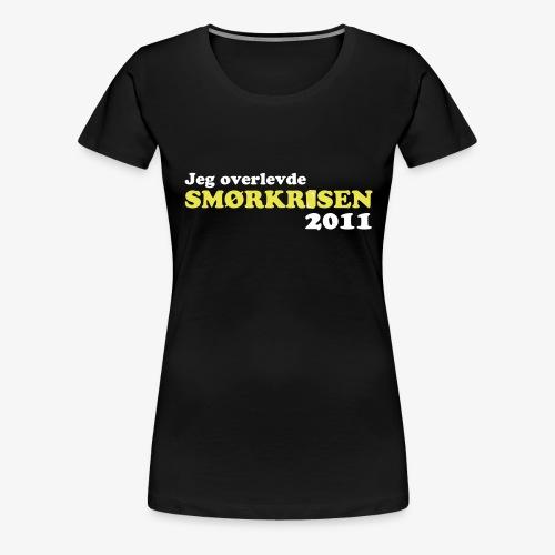 Smørkrise 2011 - Norsk - Premium T-skjorte for kvinner