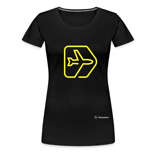 Netzpiloten Logo weiss - Frauen Premium T-Shirt