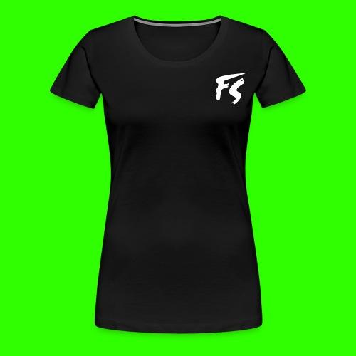 FS Logo wit - Vrouwen Premium T-shirt