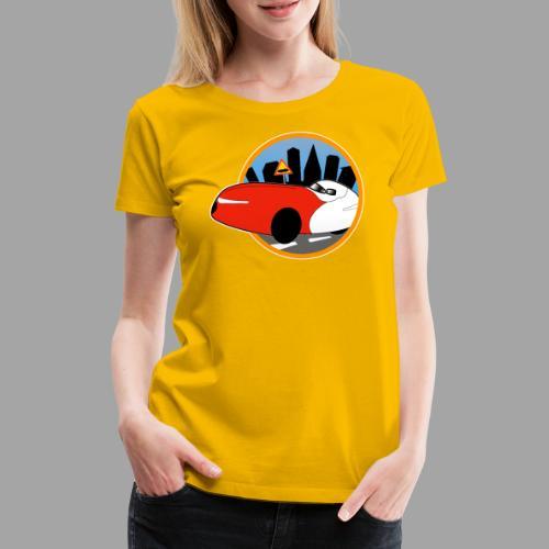Velomobile-skyline - Naisten premium t-paita