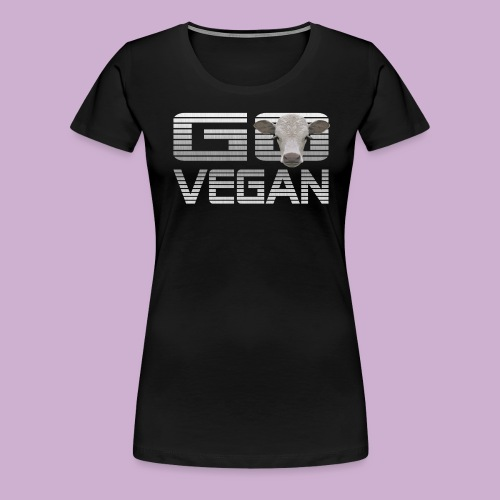 GO VEGAN KALB - Frauen Premium T-Shirt