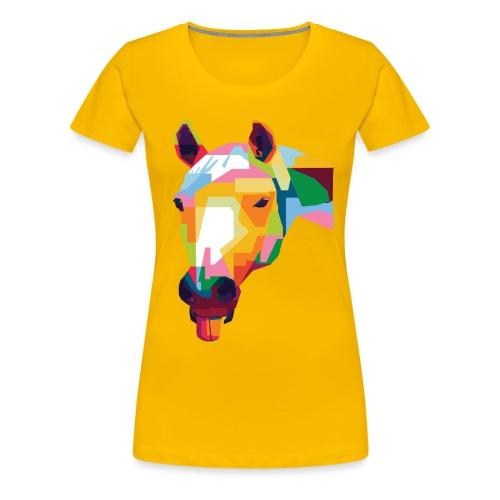 Pferde WPAP Design - Frauen Premium T-Shirt