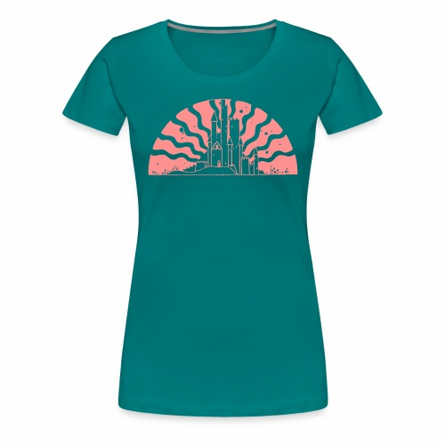 Fairytale Castle Sunrise - Frauen Premium T-Shirt