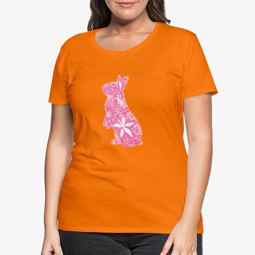Flower Bunny II - Naisten premium t-paita