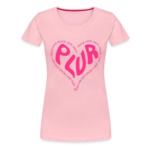 PLUR Peace Love Unity & Respect ravers mantra in a - Women's Premium T-Shirt