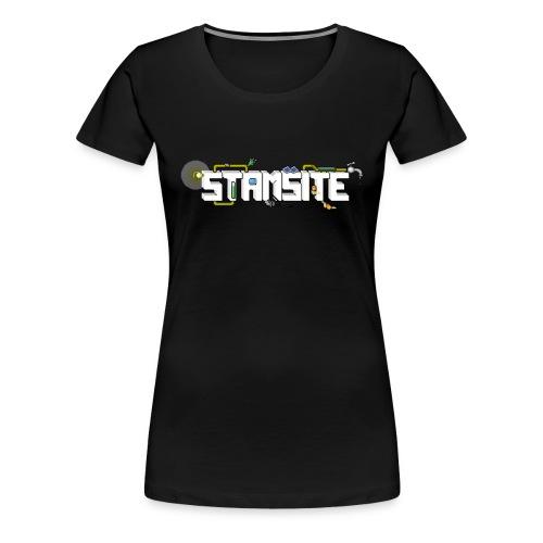 STAMSITE Logo - Premium-T-shirt dam