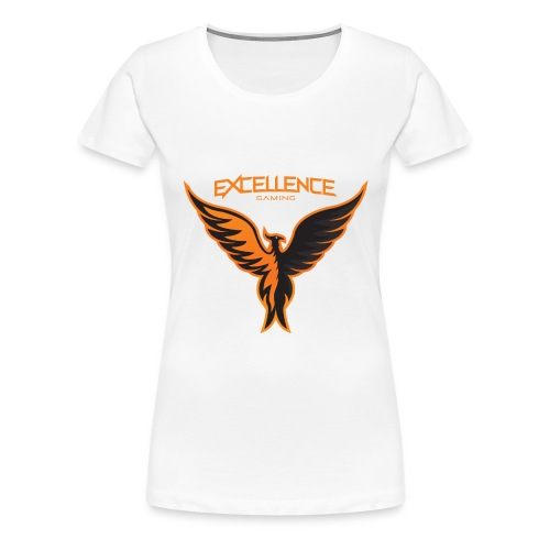 Logo Phoenix Typo Orange - T-shirt Premium Femme