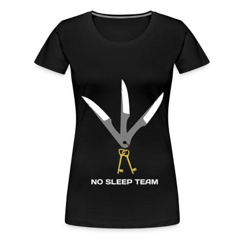 LogoNosleepWhiteCompresse - T-shirt Premium Femme