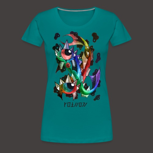 Poisson multi-color - T-shirt Premium Femme