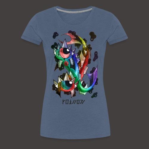 Poisson multi-color - T-shirt Premium Femme