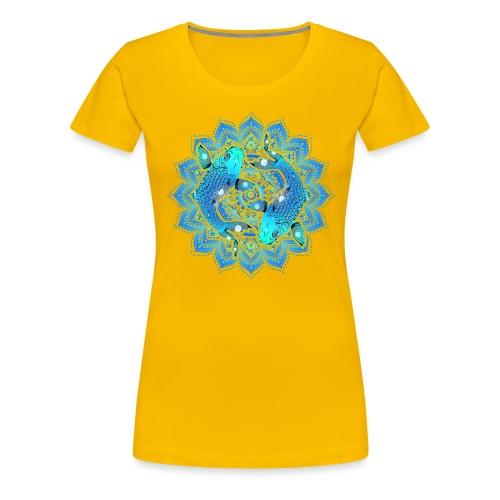 Asian Pond Carp - Koi Fish Mandala 1 - Frauen Premium T-Shirt