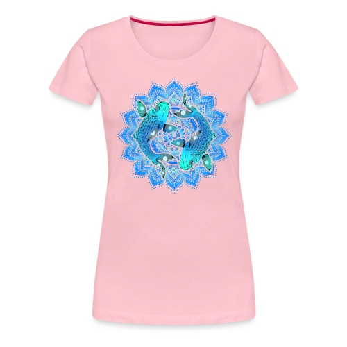 Asian Pond Carp - Koi Fish Mandala 1 - Frauen Premium T-Shirt